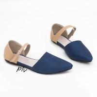 harga |plv| Best Seller Sepatu Flat Shoes Murah Tali Ag10 Navy Tokopedia.com