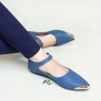 harga |plv| Best Seller Sepatu Wanita Flat Shoes Tali Murah Ag06 Navy Tokopedia.com