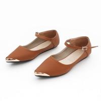 harga |plv| Best Seller Sepatu Wanita Flat Shoes Tali Murah Ag06 Moka Tokopedia.com