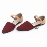 harga |plv| Best Seller Sepatu Flat Shoes Murah Tali Ag10 Maroon Tokopedia.com