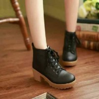 Jual Sepatu Boots Heels Wanita PB36 Murah