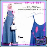 Jual DRESS Smile Set Overall BAJU DRESS MUSLIM BAJU GAMIS BAJU MUSLIM Murah