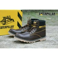 sepatu caterpillar safety shoes rossel darkbrown
