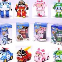 mainan anak berkualiitaaaas FIGURE ROBOCAR POLI 1 set 4 Berkualitas