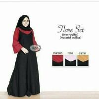 Jual Paling Laris Dress murah Setelan hijab Flare Set Murah