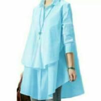Jual Rachma Blouse Hiraku Biru Muda SW blouse wanita rayon bangkok biru mu Murah