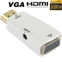 Jual Canggih! Adapter HDMI 1080P ke VGA Dengan Colokan Audio + Kabel Audio! Murah