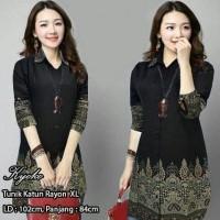 Jual Busana Muslim Tunik Kyoko Batik/atasan muslim wanita/baju tunik Murah
