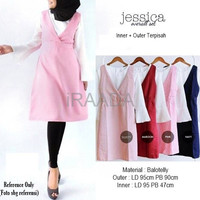 Jual Baju Dress Jessica Overall Set Terbaru Murah