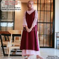 Jual Baju Dress Kiev Dress 2in1 Dress Overall Terbaru Murah