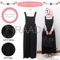 Jual Baju Dress Annie Overall Black Terbaru Murah