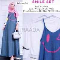 Jual Baju Dress Smile Set Overall Terbaru Murah