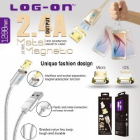 Jual Kabel Magnetic Cable Charger Micro USB Log On Xiaomi Samsung Oppo Murah