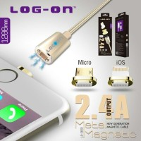 Jual Log On Kabel Magnetic Cable Charger Apple Lightning iPhone 5 6 6s Murah