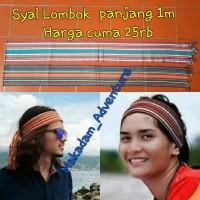 Jual syal etnik lombok kain tenun rajut ikat kepala suku sasak   Murah