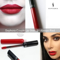 SEPHORA CREAM LIP STAIN IN 01 ALWAYS RED FULL SIZE
