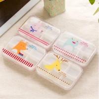 Jual PROMO MURAH !!! Kotak Obat Sekat 6 Plastik PP Animal Murah