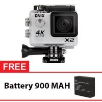 Jual Onix XCOM Action Camera X2 4K Ultra HD WIFI 2,0' 16MP free Batere 900 Murah