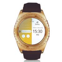 Jual Cognos Smartwatch G4 Heart Rate Monitor GSM Sim Card Leather - Emas Murah
