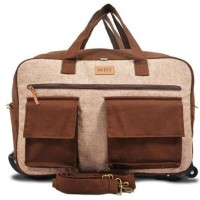 Jual Tas Trolley Lipat Travel Bag Kanvas Maika Etnik MOTERE BROWN Murah