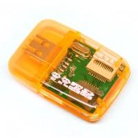 Jual All in One Mini multi Memory Card Reader Micro SD HC TF M2 MS MMC Card Murah