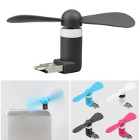 Jual Micro USB OTG Mini Kipas Portable Fan Android Smartphone Laptop PC USB Murah