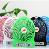 Jual Kipas Angin Mini Listrik USB Portable Mini Fan Recharge Charge Senter Murah
