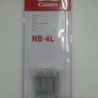 Jual Baterai Canon NB-4L / Nb 4L Canon Ixus Powershot Murah