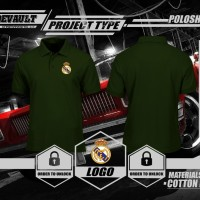 Jual Poloshirt Kaos Polo Real madrid Logo Murah Murah
