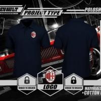 Jual Poloshirt Kaos Polo Real AC Milan Logo Murah Murah