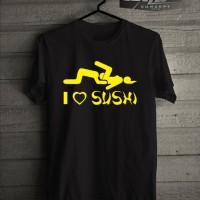 Jual Kaos T shirt JDM I Love Sushi Murah