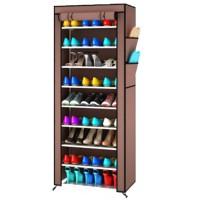 Jual PROMO MURAH !! Rak sepatu cover 10 susun/ shoe rack with dust cover Murah