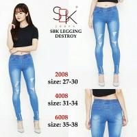 Jual [SIZE 35-38] SBK 6008 Legging Destroy | CELANA LEGGING JUMBO BIGSIZE Murah