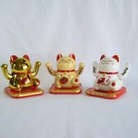 Jual Kucing Keberuntungan Maneki Neko 10cm Murah