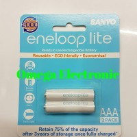 Jual Baterai Sanyo Eneloop lite AAA 600mAh rechargeable charge battery A3 Murah