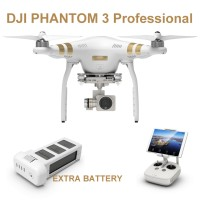DJI PHANTOM 3 PROFESSIONAL REFURBISH + EXTRA 1 BATTERAI / BATTERY