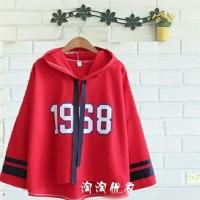 BT11238 Red Hoodie Viola 1968 Sweater