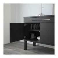 IKEA BJURSTA Lemari Bufet 155x68 cm, cokelat kehitaman