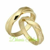 cincin kawin nikah tunangan emas putih 50% dan perak lapos rhodium