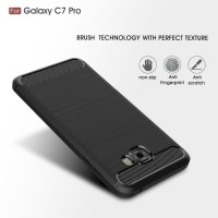 Samsung C7 C9 PRO spigen like cover softcase carbon hp case FIBER LINE