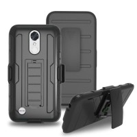 LG K10 2017 hard soft case casing belt clip back cover hp FUTURE ARMOR