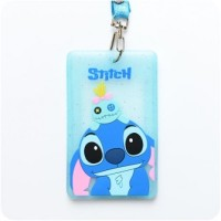 Jual NAME TAG HOLDER + STRAP KARAKTER STITCH LUCU & MURAH - M102 Murah