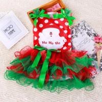 Jual SANTA TUTU DRESS Baju Anak Import Branded Natal Pakaian Merah Red Murah