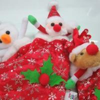 Jual Hiasan Natal Kaos Kaki Motif Santa Snowman Rudolph Deer Murah