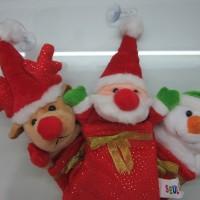 Jual Hiasan Natal Kaos Kaki Santa Snowman Rudolph Deer Murah