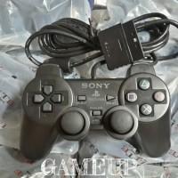 gamepad joystick stik stick playstation PS 2 PS2 ori pabrik OP hitam