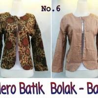Jual Bolero batik bolak balik | Kardigan batik Murah