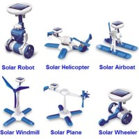 Jual  Educational 6 in 1 DIY Solar Hybrid Robot Kit Toy  Mainan An T0310 Murah
