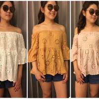 Jual blouse sabrina brukat bangkok impor Murah
