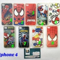 Jual  case iphone 4 case iphone4 silikon iphone 4 spiderman T1310 Murah